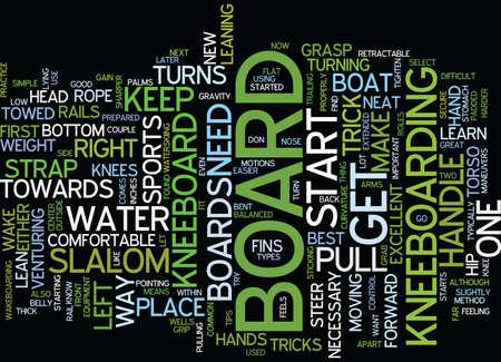 GEWELDIGE TIPS VOOR HET KNEEBORD Tekstachtergrond Word Cloud Concept Stock Illustratie