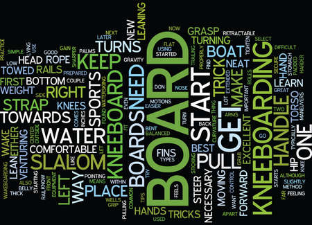 GREAT TIPS ON HOW TO KNEEBOARD Text Background Word Cloud Concept Ilustração