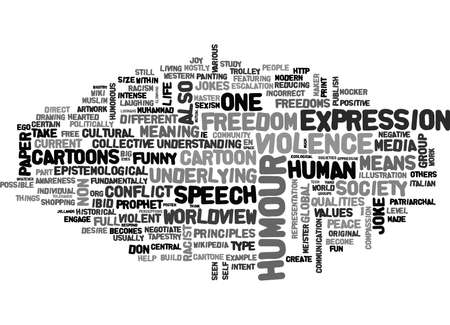 IS THIS FUNNY CAN WE DEVELOP NON VIOLENT HUMOUR Text Background Word Cloud Concept