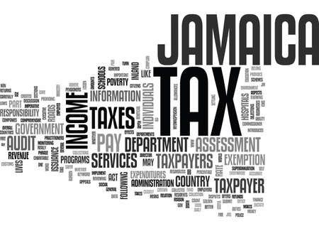 JAMAICA TAX Text Background Word Cloud Concept