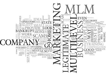 IS YOUR MLM ABOUT TO GO BANKRUPT AND LEAVE YOU FLAT Text Background Word Cloud Concept
