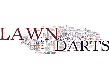 LAWN DARTS Text Background Word Cloud Concept