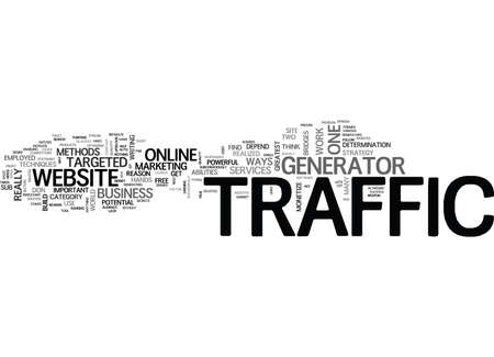 IS TRAFFIC GENERATOR THE NEW ONLINE WEAPON Text Background Word Cloud Concept