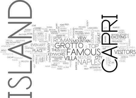 ISLAND OF CAPRI Text Background Word Cloud Concept