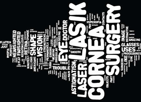 LASIK EYE SURGERY ARE YOU READY Text Background Word Cloud Concept