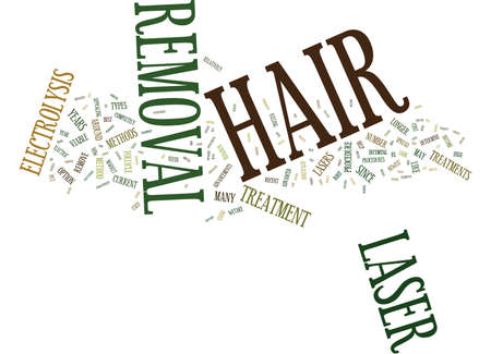LASER HAIR REMOVAL Text Background Word Cloud Concept