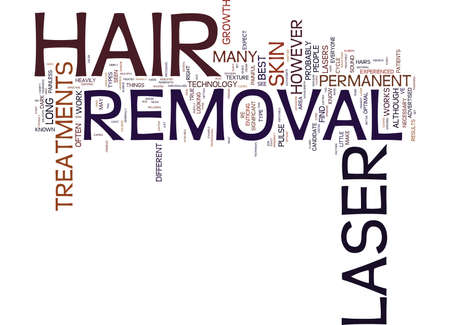 LASER HAIR REMOVAL FAQ Text Background Word Cloud Concept Çizim