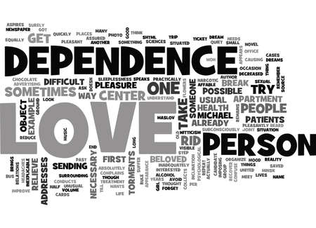 IS IT POSSIBLE TO RECOVER FROM LOVE Text Background Word Cloud Concept Illustration