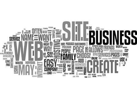 LEARN HOW TO CREATE A WEB SITE Text Background Word Cloud Concept