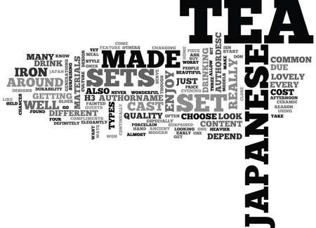 JAPANESE TEA SETS Text Background Word Cloud Concept