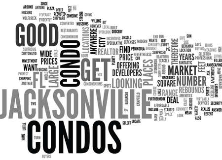 JACKSONVILLE FL CONDOS Text Background Word Cloud Concept