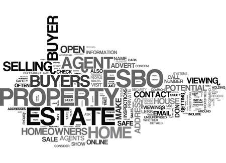 IS FSBO SAFE Text Background Word Cloud Concept
