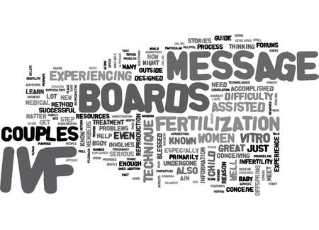 IVF MESSAGE BOARDS EXPLAINED Text Background Word Cloud Concept