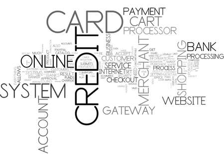 IS YOUR WEBSITE CREDIT CARD FRIENDLY Text Background Word Cloud Concept