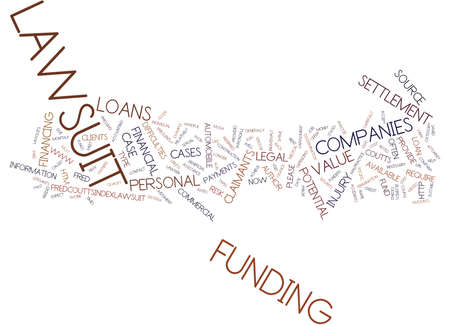LAWSUIT LOANS NO RISK LOANS Text Background Word Cloud Concept