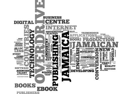 tremendous: JAMAICAN OVERDRIVE LCD S IN LDC S Text Background Word Cloud Concept
