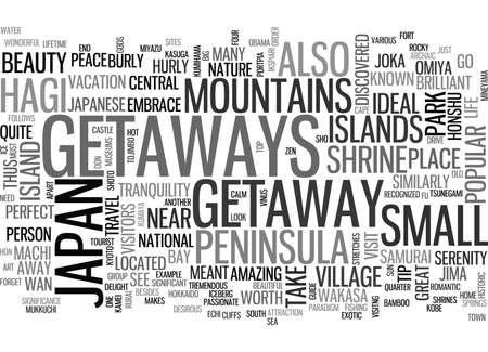 discovered: JAPANESE TRAVEL GUIDE Text Background Word Cloud Concept Illustration