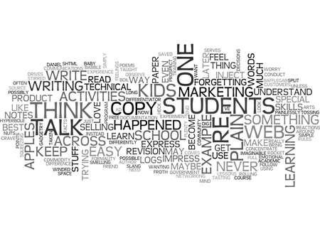 IS YOUR WEB COPY PLAIN TALK Text Background Word Cloud Concept