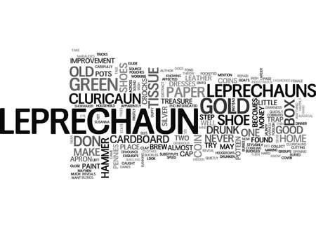 IS THERE A LEPRECHAUN IN YOUR GARDEN Text Background Word Cloud