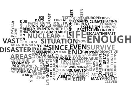 IS THE END NIGH Text Background Word Cloud Concept