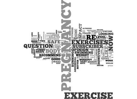 IS YOUR PREGNANCY EXERCISE SAFE FOR BABY Text Background Word Cloud Concept
