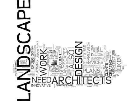 LANDSCAPE ARCHITECTS Text Background Word Cloud Concept