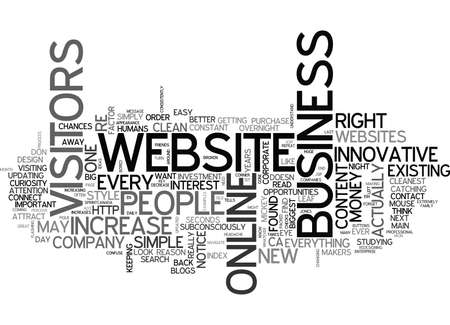 IS YOUR WEBSITE INNOVATIVE INCREASE YOUR BUSINESS OVER NIGHT Text Background Word Cloud Concept