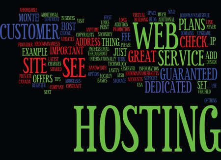 internationally: GREAT HOST Text Background Word Cloud Concept