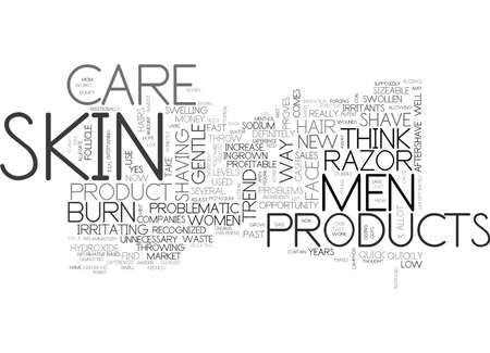 IS MEN S SKIN CARE PROBLEMATIC TODAY Text Background Word Cloud Concept