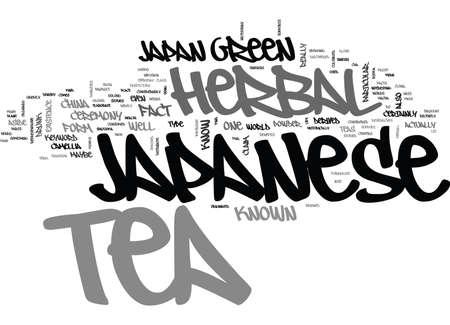 JAPANESE HERBAL TEA Text Background Word Cloud Concept 일러스트