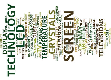 LCD TV HOW TO MAINTAIN YOUR LCD SCREENS Text Background Word Cloud Concept