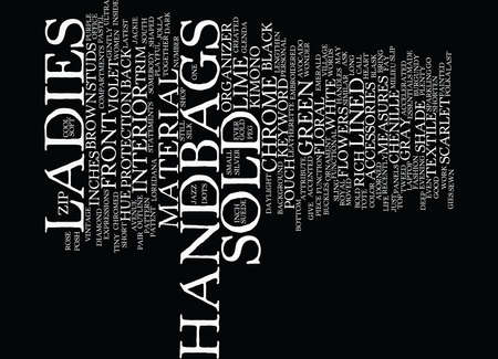 LADIES HANDBAGS Text Background Word Cloud Concept