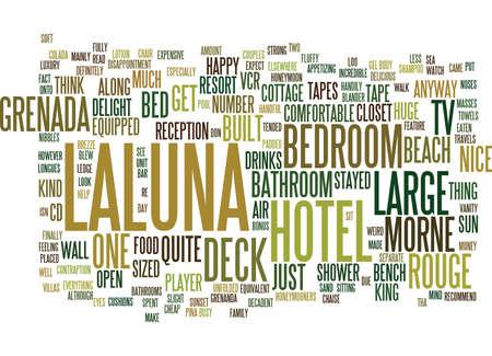 LALUNA HOTEL MORNE ROUGE GRENADA Text Background Word Cloud Concept