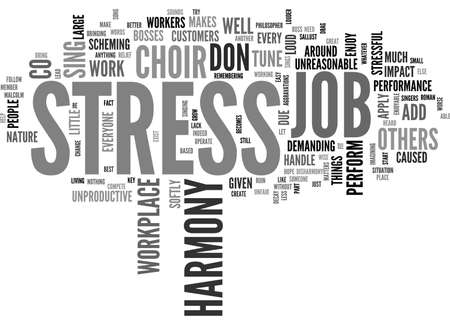 あなたの仕事のストレスを追加少し調和本文背景単語雲概念です。