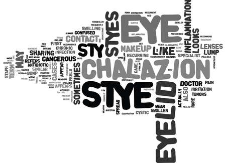 IS EYE STY CANCEROUS Text Background Word Cloud Concept Illustration