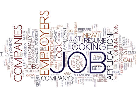 LEARN HOW AND WHERE TO LOOK FOR JOBS DLVY NICHEBLOWERCOM Text Background Word Cloud Concept