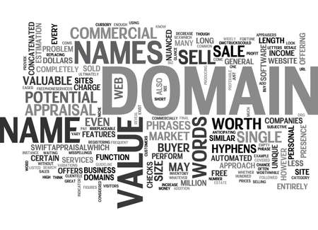 IS YOUR DOMAIN NAME WORTH A FORTUNE Text Background Word Cloud Concept
