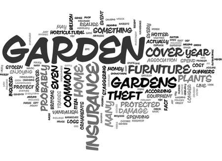 IS YOUR GARDEN PROTECTED BY YOUR HOME INSURANCE Text Background Word Cloud Concept Çizim