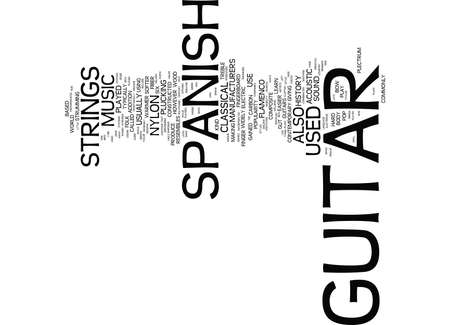 LEARN TO PLAY GUIDE FOR SPANISH GUITAR Text Background Word Cloud Concept