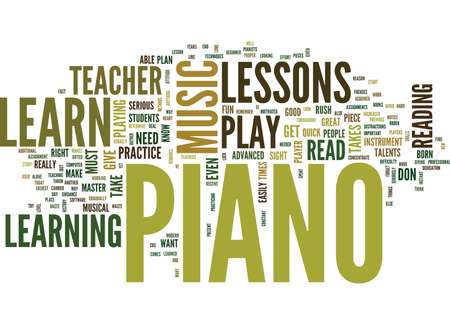 LEARN TO READ PIANO MUSIC Text Background Word Cloud Concept