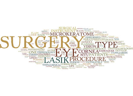 LASIK SURGERY TERMS YOU SHOULD KNOW Text Background Word Cloud Concept