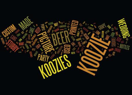 KOOKY KOOZIE DESIGNS Text Background Word Cloud Concept