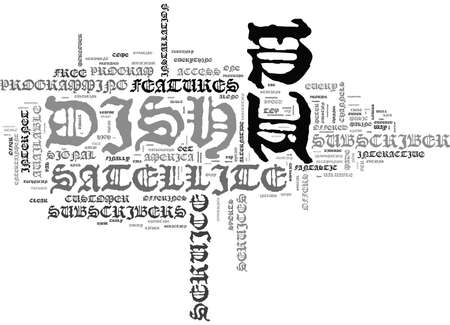 IS DISH TV A VALUABLE ALTERNATIVE Text Background Word Cloud Concept