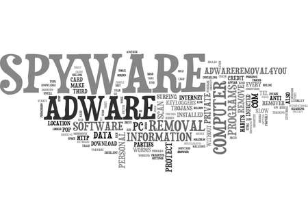 IS THERE SPYWARE AND ADWARE ON YOUR COMPUTER Text Background Word Cloud Concept
