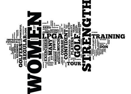 LEARN FROM THE PROS ON THE LPGA TOUR Text Background word cloud concept