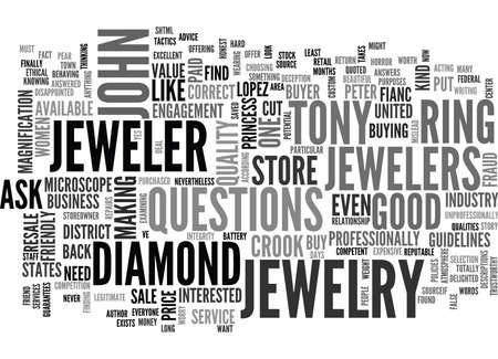 IS YOUR JEWELER A CROOK Text Background Word Cloud Concept