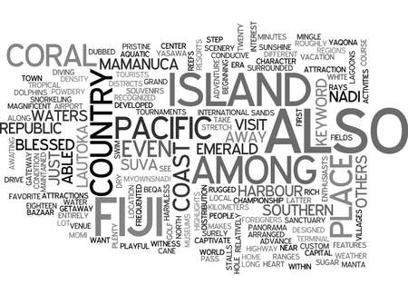 ISLAND OF FIJI Text Background Word Cloud Concept