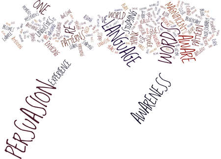 LANGUAGE PATTERN AWARENESS Text Background Word Cloud Concept