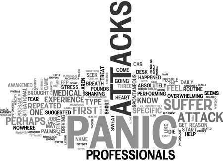 IS WHAT YOU FEEL A PANIC ATTACK Text Background Word Cloud Concept