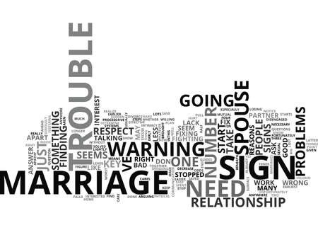 IS YOUR MARRIAGE IN TROUBLE THE ANSWER INSIDE Text Background Word Cloud Concept Çizim